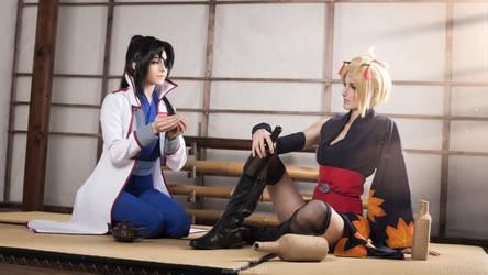 Tsukuyo and Kyubei - Gintama by Kaori-Tasogare