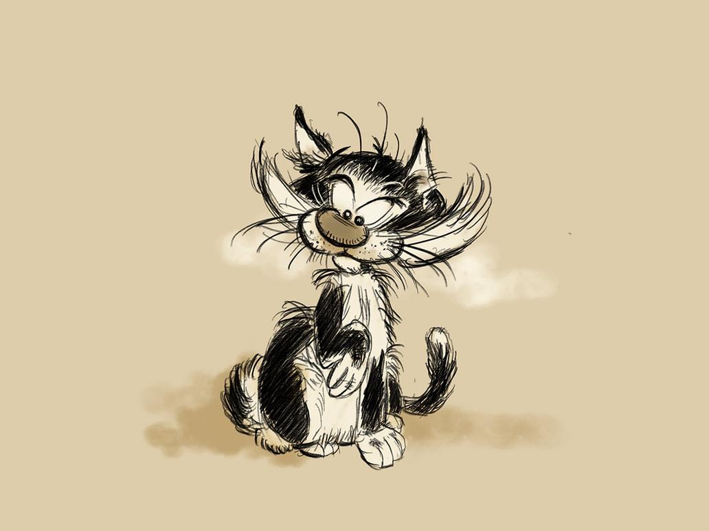 Gastons Cat (study) by tBenjaminLarsen