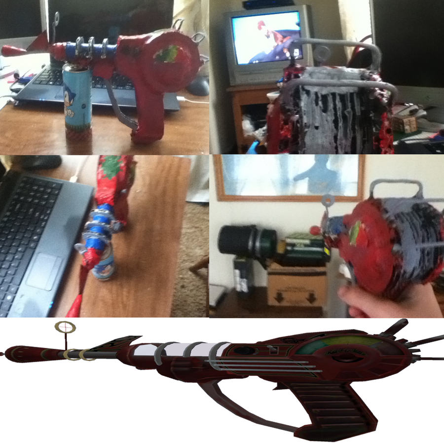 Homemade Ray gun *Finished* Note me for more guns by Blinx3megachanel