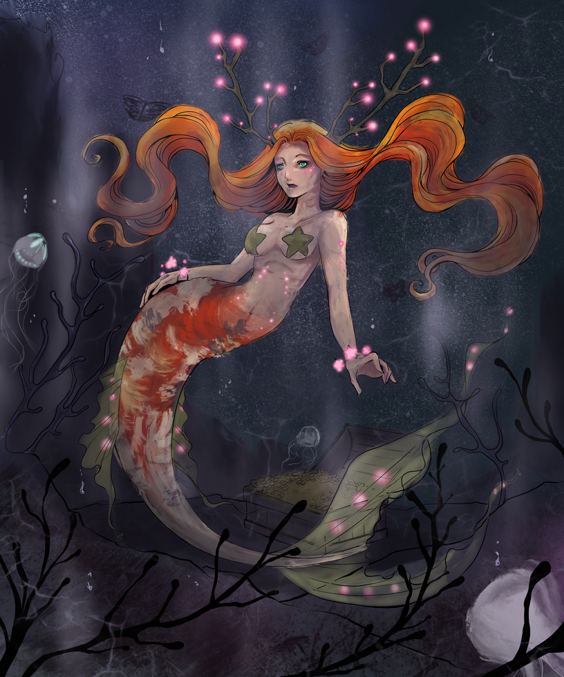 Coloring contest 2017 - Mermaid of the Lake by PendragonSky