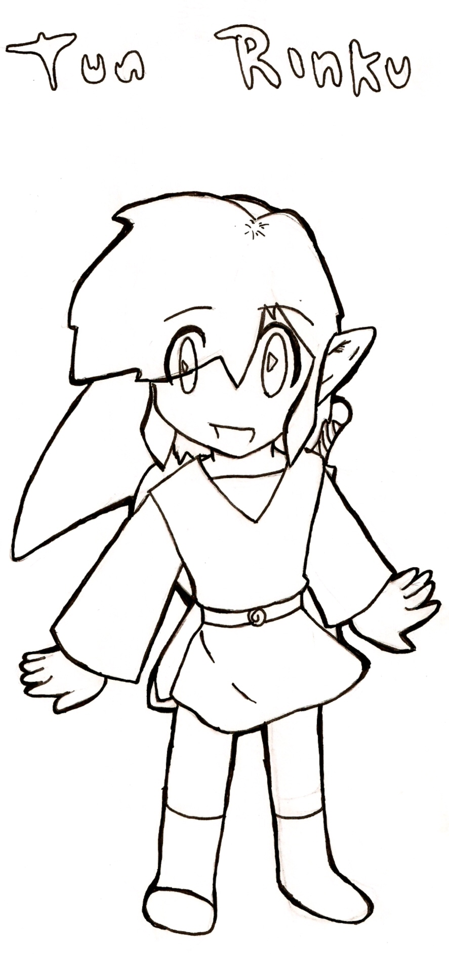 Toon Link-Coloring sheet by ChibiFighter on DeviantArt