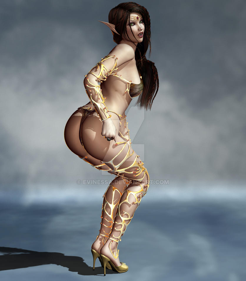 Sexy dark elf girls adult butt