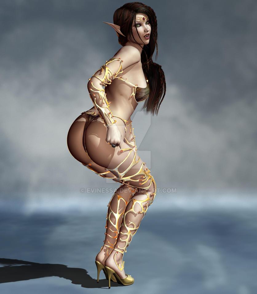Very nude sexy female elf warriors art seems excellent
