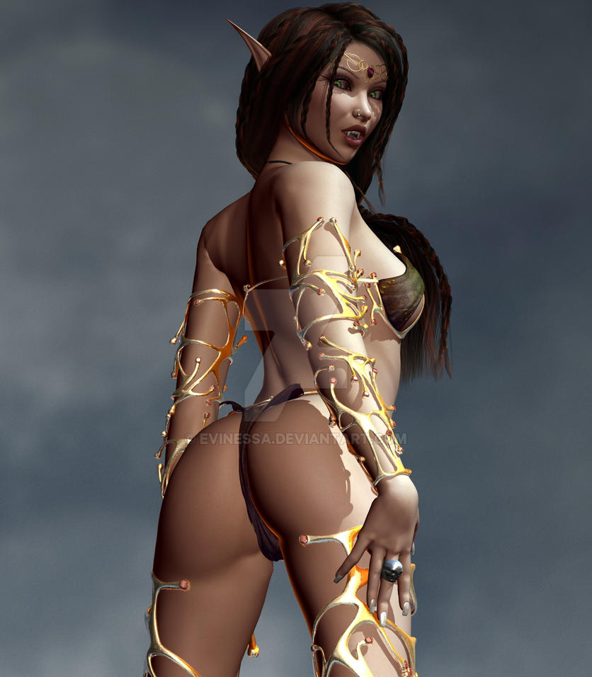 Naked Dark Elf 71