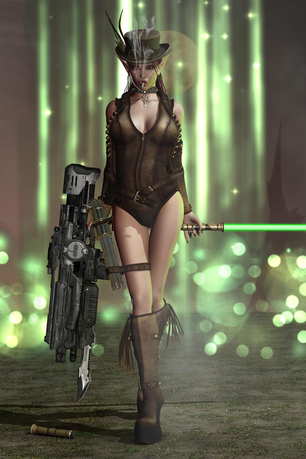 Sexy Fantasy Devil Vamp Steampunk Elfen 105 by Evinessa