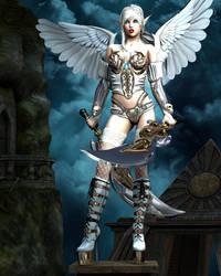 Sexy Devil Vamp Elf Phantasy 004 Angel by Evinessa