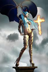 Sexy Devil Vamp Elf Crossfire 001 B by Evinessa