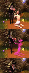 Easter Egg Race by Circesvictim