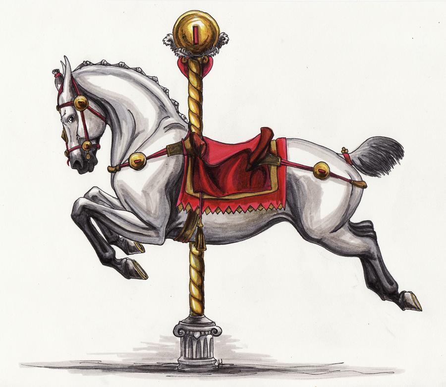 Roman Carousel Horse by lunatteo