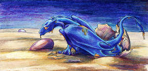 Blue Hatchling by lunatteo