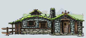 Beorn's Hut - Front Elevation