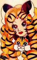 Tiger Girl by MelodiyaMoon