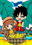 Luffy and the monkey