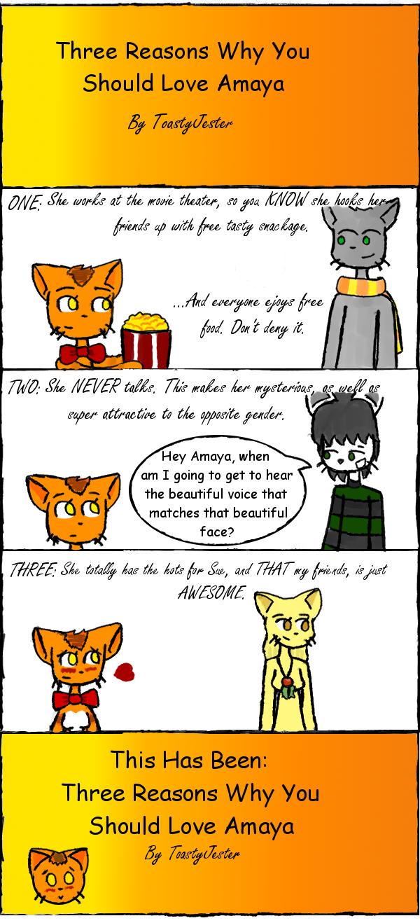 Three Reasons to Love Amaya by JesterOfToast