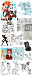Wakfu Doodles Dump 9 by RiikoChick