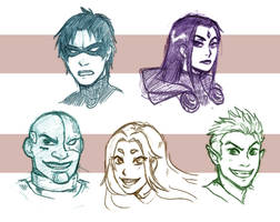 Titans sketches by RiikoChick