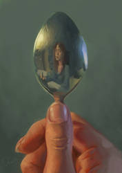 Autoportrait in spoon