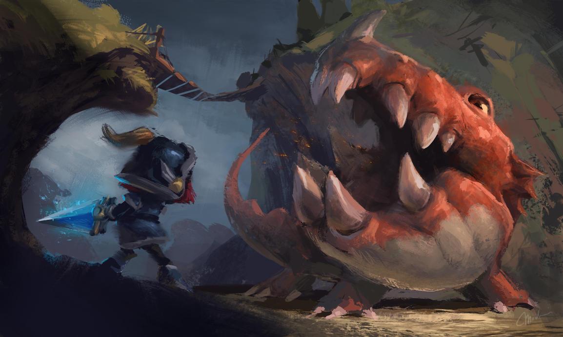 Dragon Battle by MagdaPROski