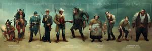 Wild west challenge character line up