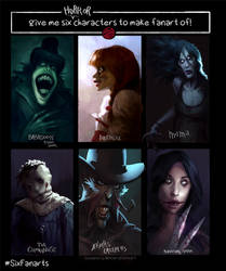 Six Fanarts Challenge horror edition