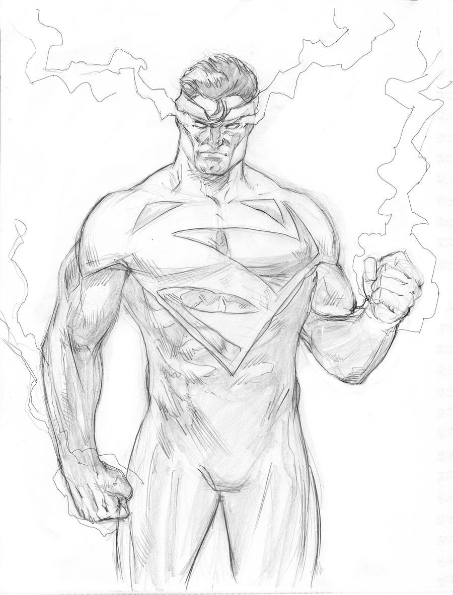 Sketch 75. Superman bl...