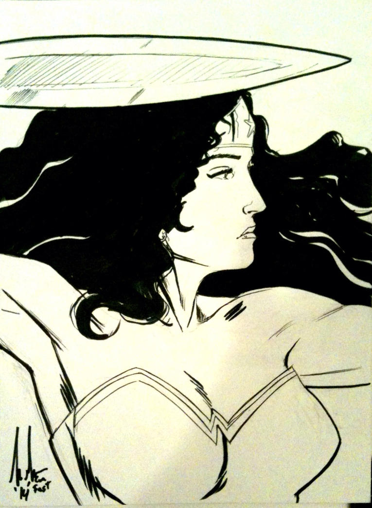 Wonderwoman Sketch by Dreamerwstcoast