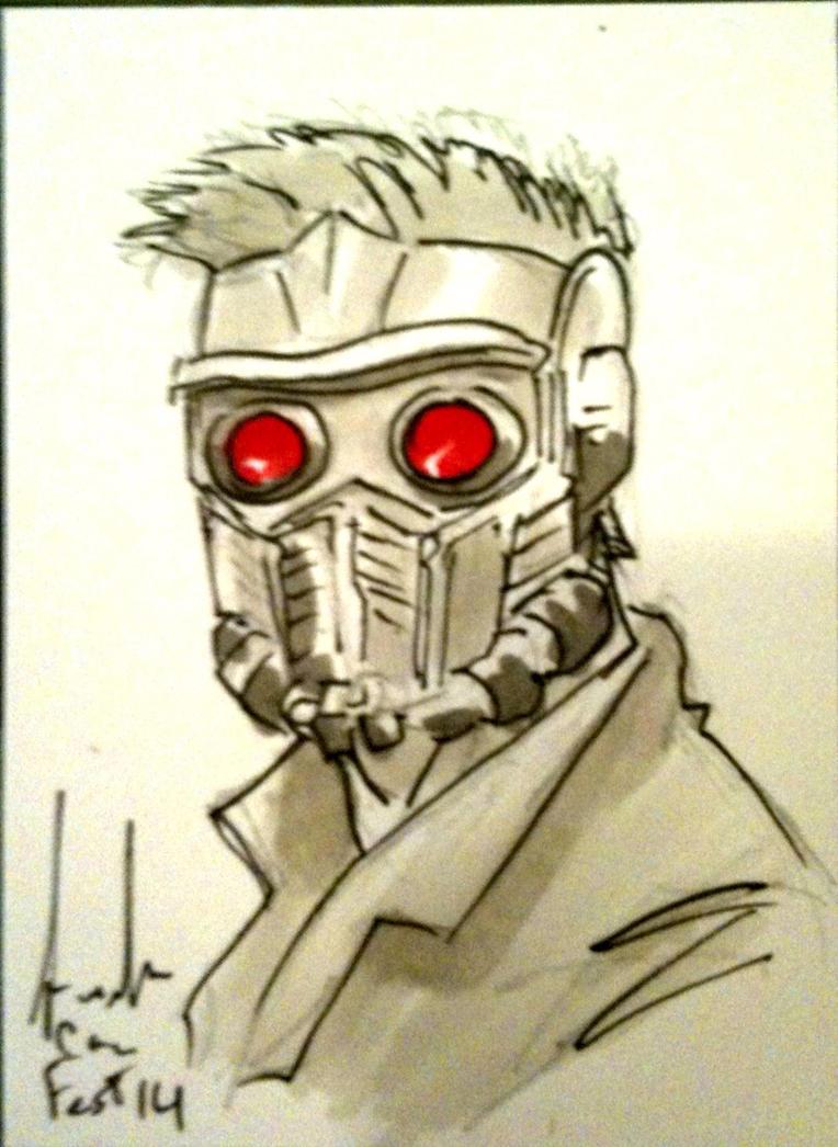 Starlord Sketcard by Dreamerwstcoast