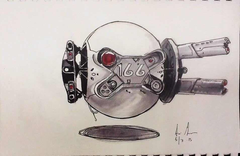 Sketch 100: Drone by Dreamerwstcoast