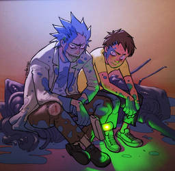 Rick and Morty fanart by therageus