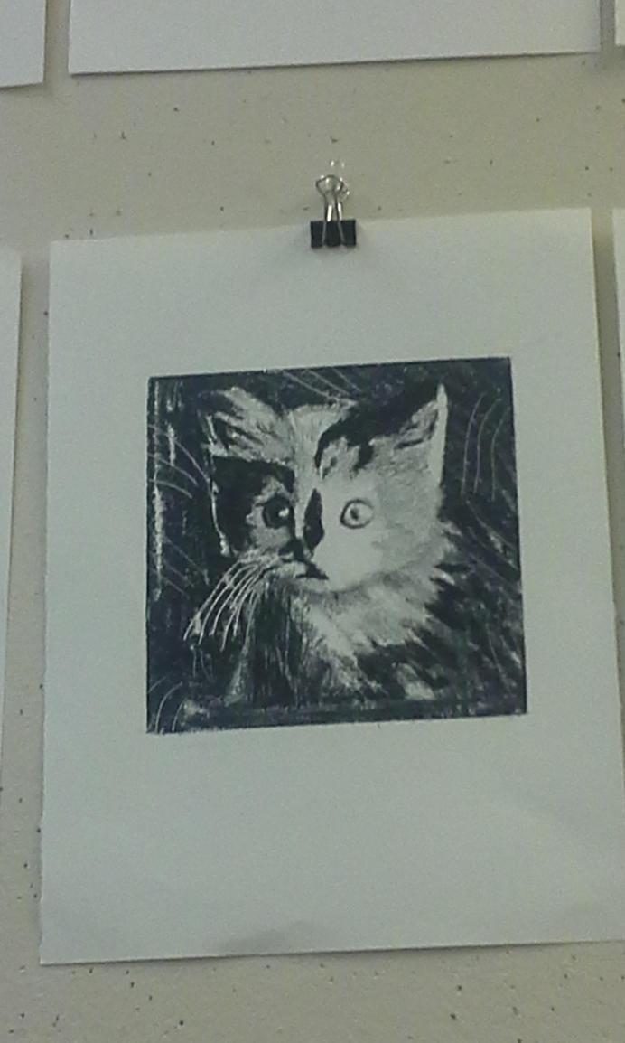 Kitten print by Ashers134