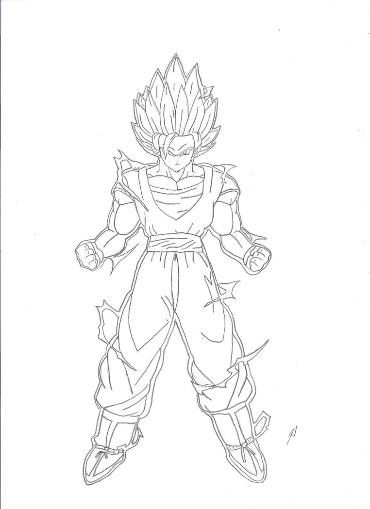 Goku SSJ2 by WolfsDeathSong on DeviantArt