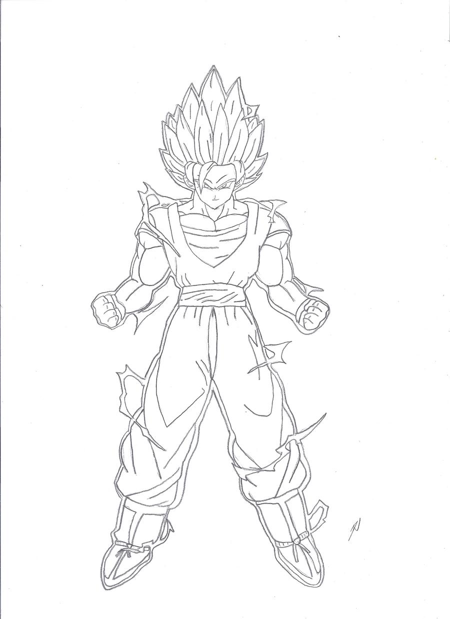 how to draw goku super saiyan 2