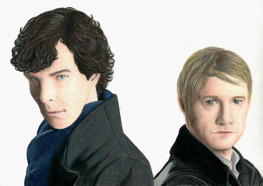 Sherlock Holmes and John Watson by Nathair23