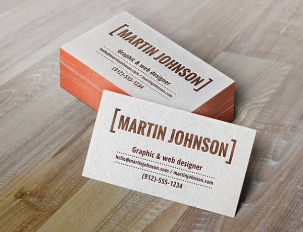 Business cards mockup with letterpress by freebiespsd