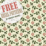 Roses Photoshop Patterns Download by freebiespsd