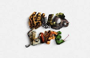 Create Animal Textured Typography by freebiespsd