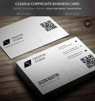 Clean and Corporate Business Cards - 04 by freebiespsd
