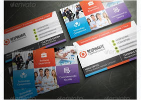 Corporate Business Card by freebiespsd