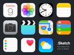 Vector iOS Icons by Marcelo Silva