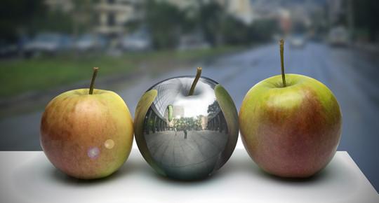 Photo-Realistic Metal Apple in Photoshop by freebiespsd