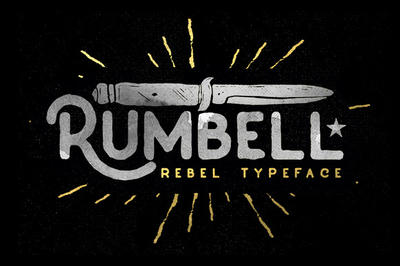 Rumbell Typeface Free Font Download by freebiespsd on DeviantArt