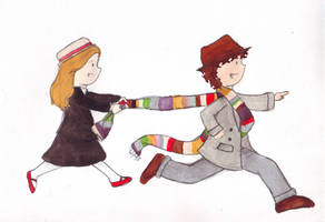 The Doctor and Romana by whosname