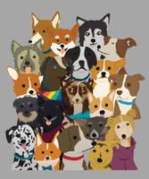 Doggie crowd