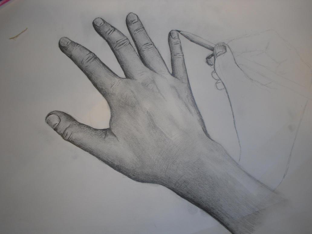 Line Art Hand : Hand getting drawn by line art theonlyjwh t on deviantart