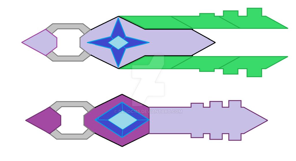 Shuzon And Shuzen Keyblade by dluoc115