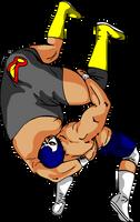 Pro Wrestling Fisherman Suplex by jpatterson