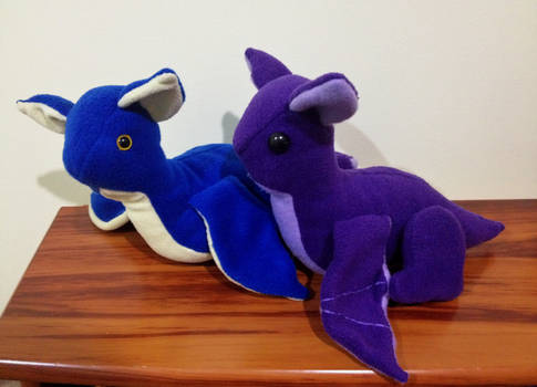 A Pair of Baby Wyvern Dragon Plushies