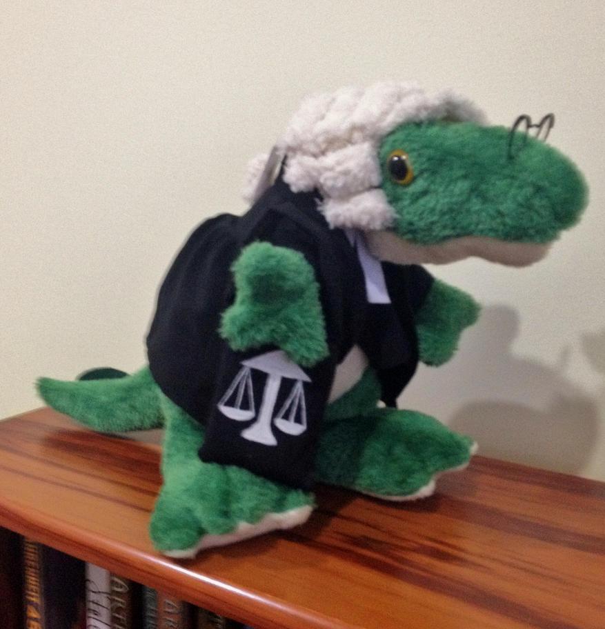 Lawyer Dinosaur Plushie by x0xChelseax0x