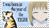 Year of the Tiger Stamp by Ariaera