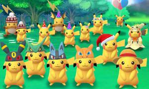 Pokemon Go: Pikachu in Hats